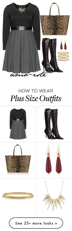 """High Boots - Plus Size"" by amo-iste on Polyvore featuring moda, Manon Baptiste, Yves Saint Laurent, Victoria Beckham, Sequin, STELLA McCARTNEY y Alexis Bittar"