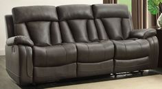 Home Elegance Ackerman Reclining Sofa & Loveseat Set 8500GRY