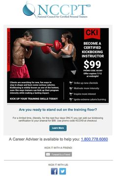 Six month nccpt course extensions for only 25 50 off use coupon get your kickboxing certification online with the nccpt we have everything you need to become a certified kickboxing instructor available online fandeluxe Image collections