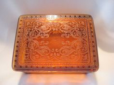 Art #Deco Elegant #Glass Etched Cigarette Box by AntiquesduJour #cambridge #gotvintage