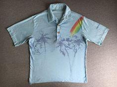 LIGHTNING BOLT SURF Shirt 80's Vintage/ Thrashed by sweetVTGtshirt