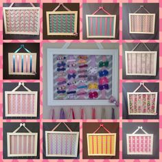 BEST SELLER-3 Sizes - Wood Bow holder/bow organizer.  Over 100 fabrics available.  Please pm me picture of nursery/room for ideas!