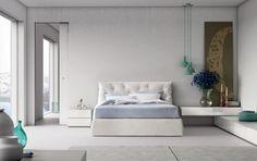 IMPUNTO sommier liscio in tessuto | With fabric plain bedframe | PIANCA | www.pianca.com