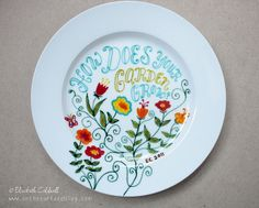 Hand Painted ceramic plate using Pebeo pens | Flickr - Photo Sharing!