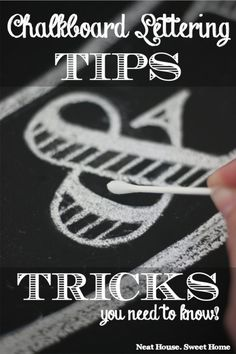 Chalkboard Lettering Tips and Tricks