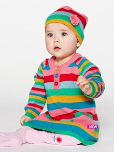 Ladybird Girls Knitted Dress and Hat   £15