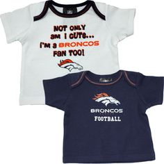 Denver Broncos baby t-shirts