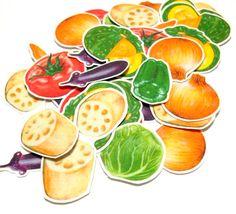 野菜8種のフレークシール♪