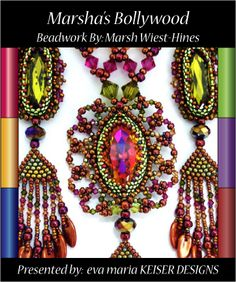 Beadwork by Marsha Wiest-Hines  http://www.made4movement.com/