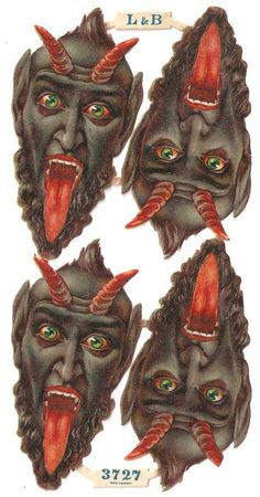 Victorian German Krampus Devil Christmas Die Cuts (better for Halloween)