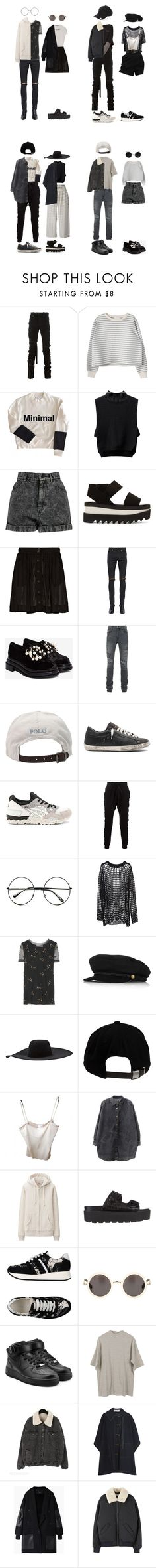 """""""he and i <3"""" by jayda-xx ❤ liked on Polyvore featuring Unravel, Boohoo, STELLA McCARTNEY, rag & bone, Yves Saint Laurent, Jeffrey Campbell, AMIRI, Polo Ralph Lauren, Golden Goose and Asics"""