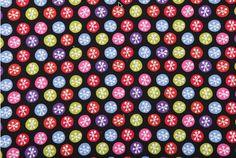 Organic cotton christmas2014 print fabric
