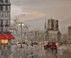 """Place du Châtelet, París (30""""x 36"""") Copyright Kal Gajoum 2013"""