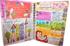 I really love this big journal with the grid because there is something really fun about it. It really doesn't take watercolor well at al...