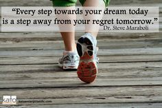 A new week: What a perfect time to renew your commitment to your Dream. Step Away from Regret and toward your Goals! You got this, Sole Friends!  #katoenterprisesllc #inspiration #noexcuses