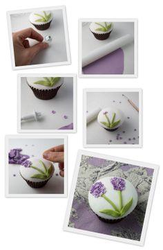 Objetivo: Cupcake Perfecto.: Paso a paso primaveral: Ramo de lilas (¡¡y una nueva fuente de inspiración recién descubierta!!)
