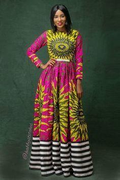 Onye Maxi dress // African dress / African dresses for prom/ African print dress / African maxi dress Long African Dresses, African Print Dresses, African Wear, African Attire, African Fashion Dresses, African Outfits, African Style, African Inspired Fashion, African Print Fashion
