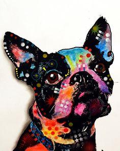 Boston Terrier II Painting - Boston Terrier II Fine Art Print - Dean Russo