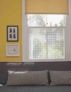 Trellis pattern printed on window film