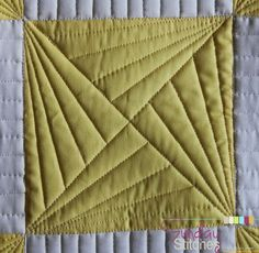 Hey there! Are you ready for another Sunday Stitches tutorial? I thought it would be fun today to share how-to machine quilt this Spinning X quilt block. I had a lot of fun machine quilting a few of t