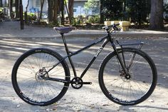 SURLY karate monkey with SOMA Porteur Rack | BUILT BY BLUE LUG