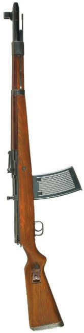 Rare Walther G.41 rifle with 25-round MG.13 magazine. Caliber: 7.92x57 mm Action: Gas operated, flap-locking Overall length: 1130 mm Barrel length: 545 mm Weight: 4.98 kg empty Magazine capacity: 10 rounds