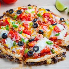 Taco Quesadilla Pizzas Taco meat and cheese stuffed quesadillas made ...