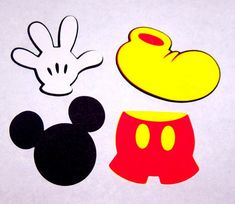 32 Mickey Mouse die cut shapes 2 inches door SnIDesignsnSupplies
