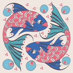 iki balık - Stok İllüstrasyon: 34957933