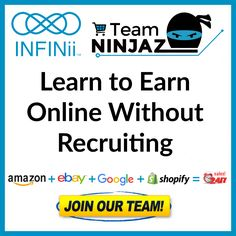 INFINii is an online e-learning platform for the eCommerce industry. Start learning how to earn online today! #INFINii #eCommerce #homebusiness