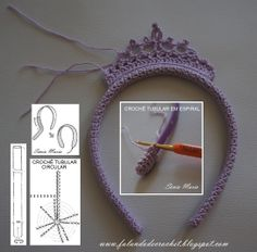 Crochet Baby Girl Headband Free 21 Ideas Best Picture For Crochet Pattern headband videos For Your Taste You are looking for something, and. Crochet Crown, Crochet Headband Pattern, Crochet Diy, Crochet Gifts, Crochet For Kids, Crochet Braid, Knit Headband, Crochet Baby Clothes Boy, Knitting Baby Girl