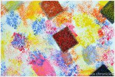 Carpet Square Painting Sensory Board