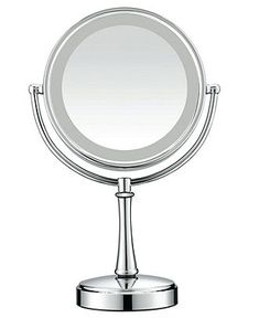 Take a good look at yourself. This classic makeup mirror rotates 360-degrees in…