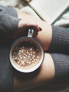 hot cocoa on a cold day