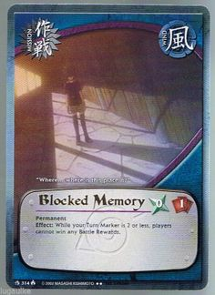 M-314 Blocked Memory Gold Letters Rare Naruto Card 1st edition