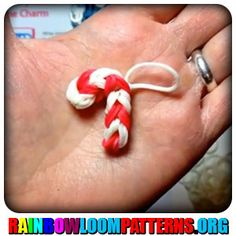 Rainbow Loom Charms - Candy Cane Charm