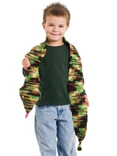 Snake Scarf for little boys who don't like wearing scarves, but like snakes!