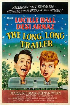 Lucille Ball Marjorie Main Keenan Wynn Pop Culture Graphics The Long Long Trailer Poster Movie B 11x17 Desi Arnaz Sr