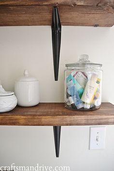 DIY Rustic Bathroom Shelves - Craftsmandrive.com