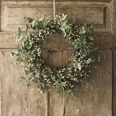 Christmas wreath Via @Carin Perry Perry Perry Talucci/ Sage green wreath.  I love this color.