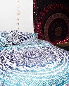 Lady Scorpio Mandala Duvet Cover Set. Beautiful Bohemian Bedroom