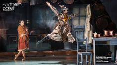 Martha Leebolt as Cinderella and Hironao Takahashi as the Magician. Photo Bill Cooper. northernballet.com/cinderella