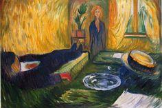 Edvard Munch    was Norwegian painter       The Murderess ,1906  _Munch Museum.Oslo,Norway