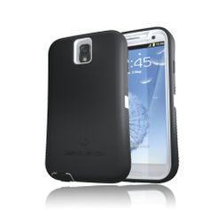 ZeroLemon ZeroShock White/Black Dual Layer Rugged Case + Screen Protector + Holster/Kickstand for Galaxy Note 3