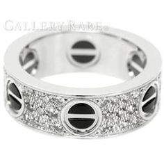 カルティエ リング ラブリング ダイヤモンド K18WGホワイトゴールド ブラックセラミック リングサイズ50 B4207600 Cartier 指輪 ジュエリー