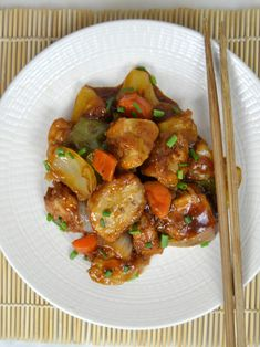 Cerdo agridulce, receta china Kung Pao Chicken, Ratatouille, Chinese Food, Sushi, Salads, Recipies, Pork, Food And Drink, Favorite Recipes