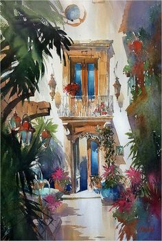 Vertical Light and Color - Mexico. Thomas W Schaller. Watercolor on Fabriano Artistico. 22x15 Inches - 04 Dec. 2016