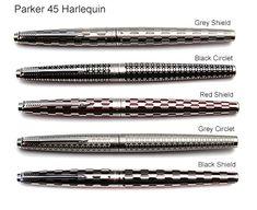 Parker 45 Fountain Pen Penography History Information Age Harlequin TX Coronet Flighter Insignia
