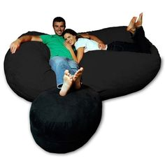 The ultimate in relaxation with this huge bean bag chair.  This totally looks like a dick.  Dick couch!