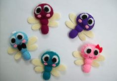 I will send you any two of these cute little handmade critters for $5